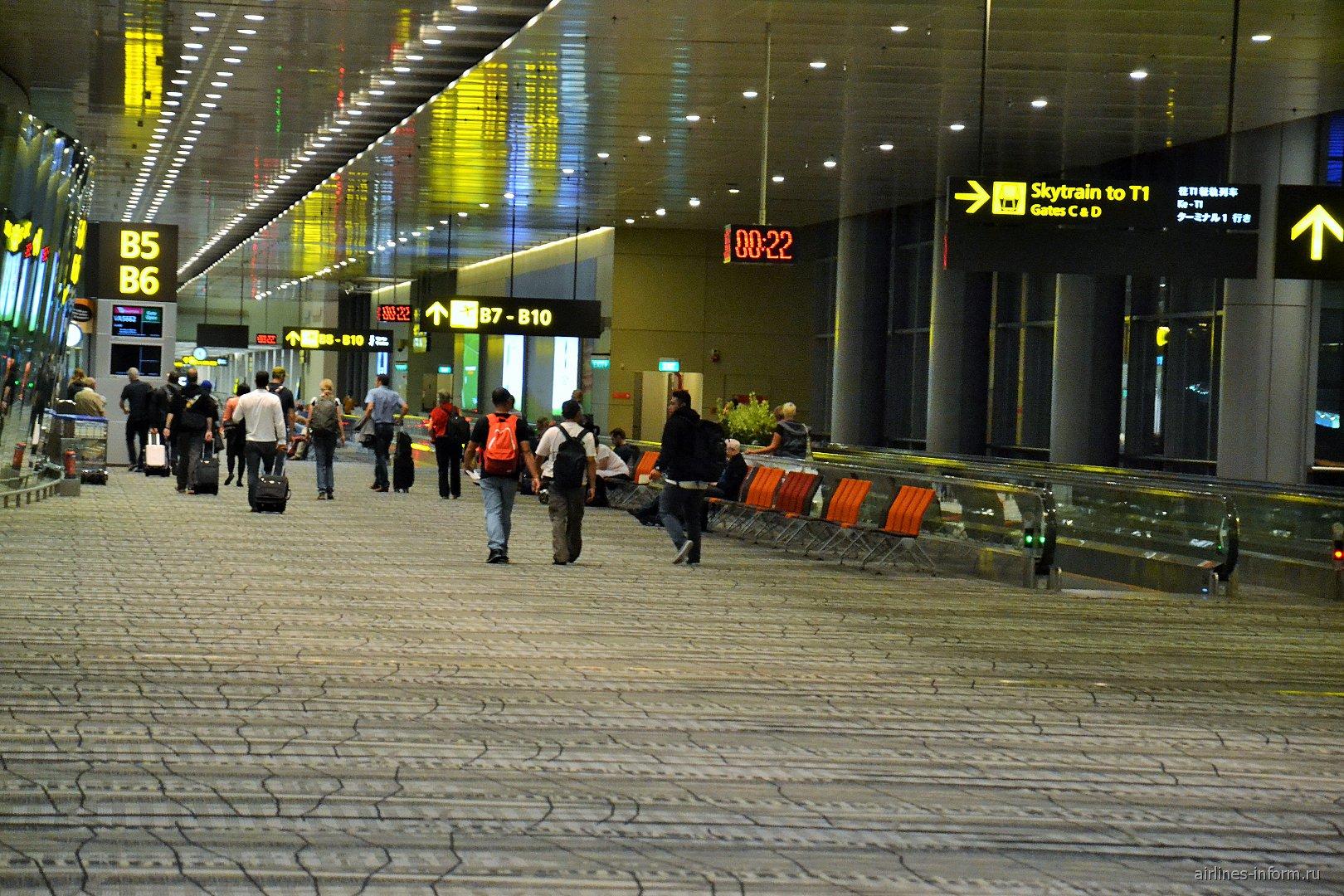 В терминале 3 аэропорта Сингапур Чанги