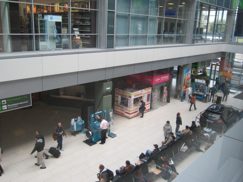 В пассажирском терминале А аэропорта Киев Жуляны