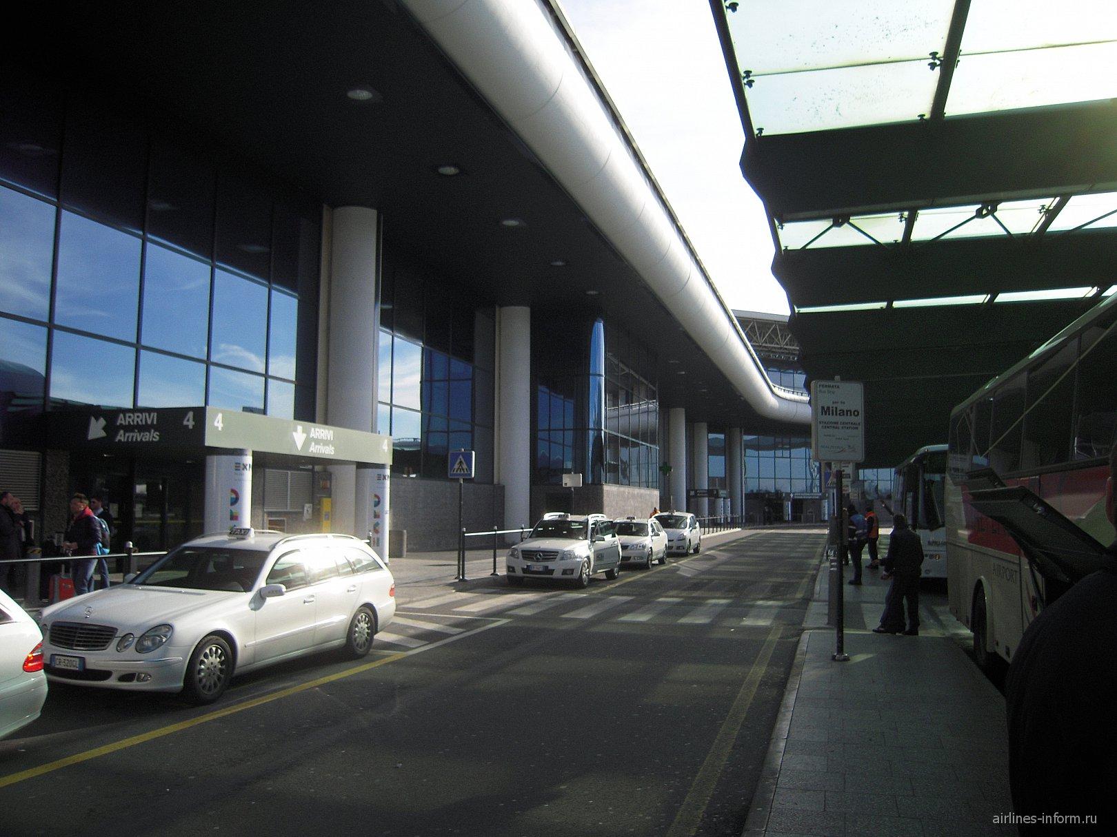 Стоянки такси в аэропорту Милан Мальпенса