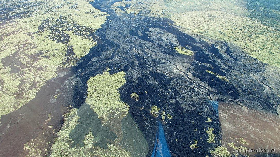 Реки из базальтовой лавы на острове Гавайи