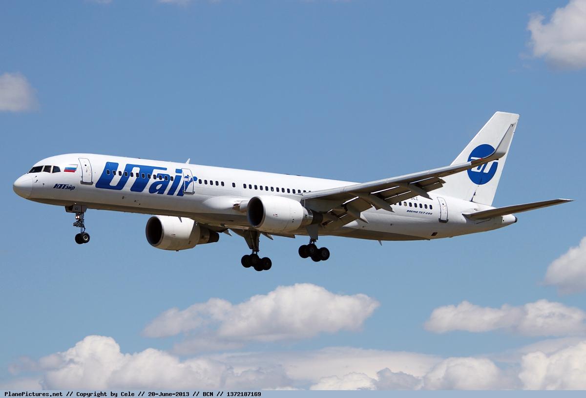 Боинг-757 авиакомпании ЮТэйр