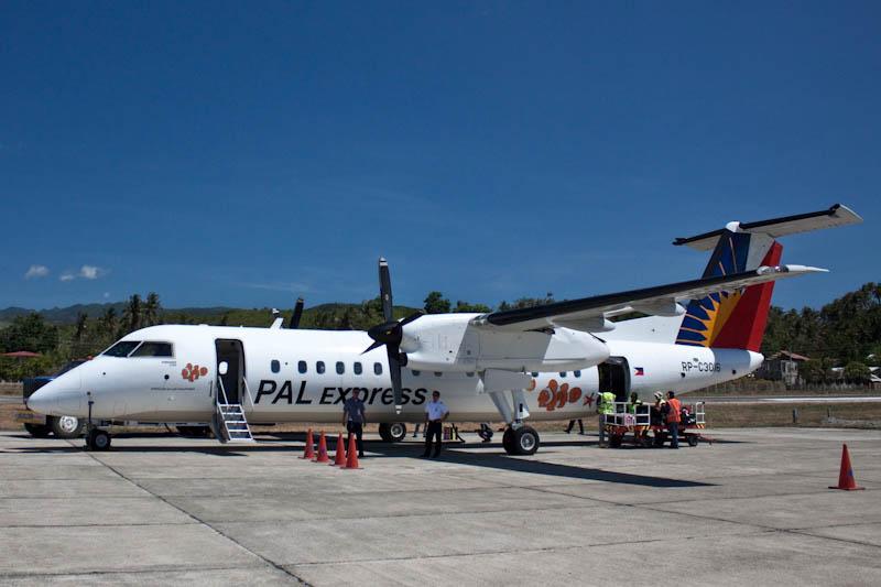 Bombardier Dash 8 Q300 in Caticlan airport
