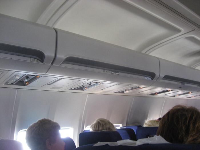 Passenger cabin of Boeing 757-200