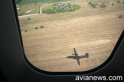 В полете на самолете Фоккер-50