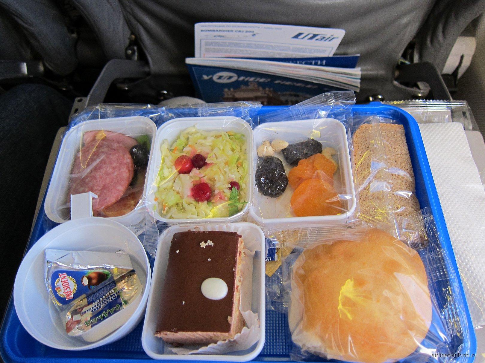 Питание на рейсе ЮТэйр Москва-Таллинн