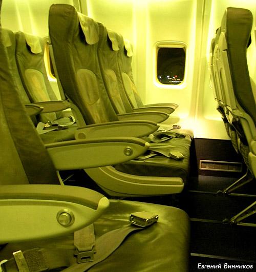 Кресла самолета Боинг-737-300 авиакомпании Lufthansa