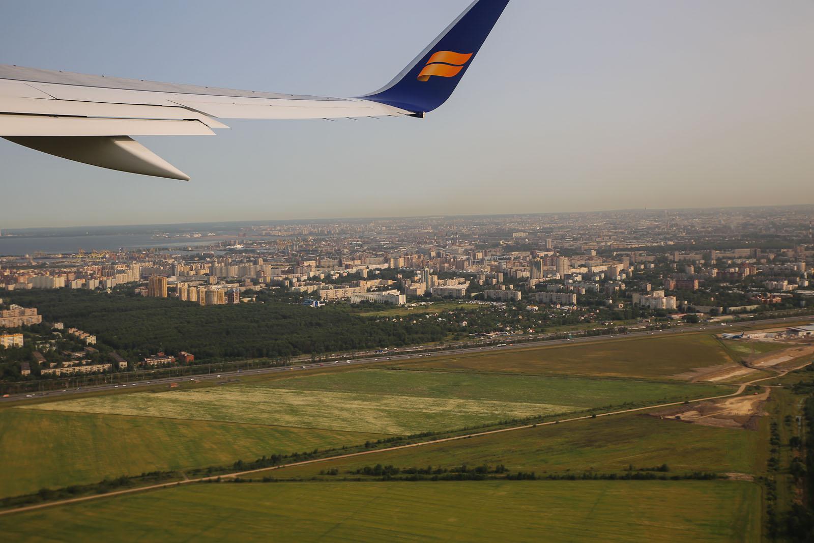 Взлет из аэропорта Пулково