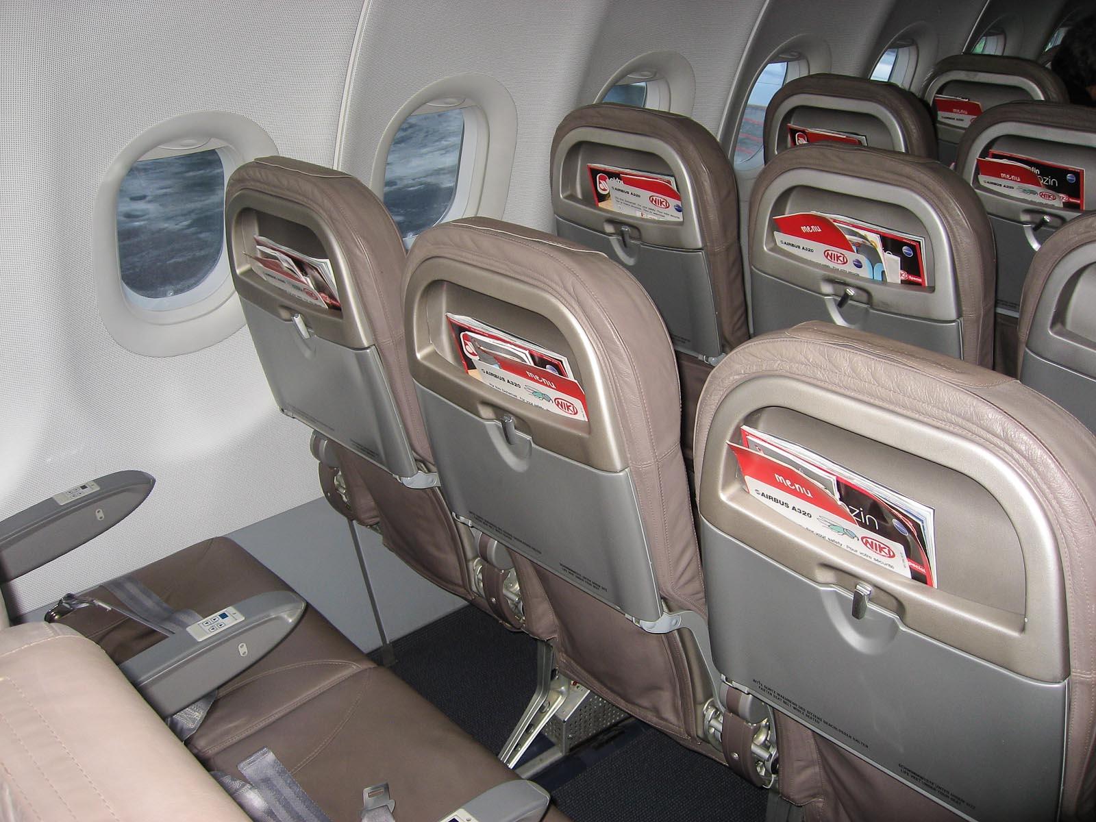 Кресла в самолете Airbus A320 авиакомпании Niki