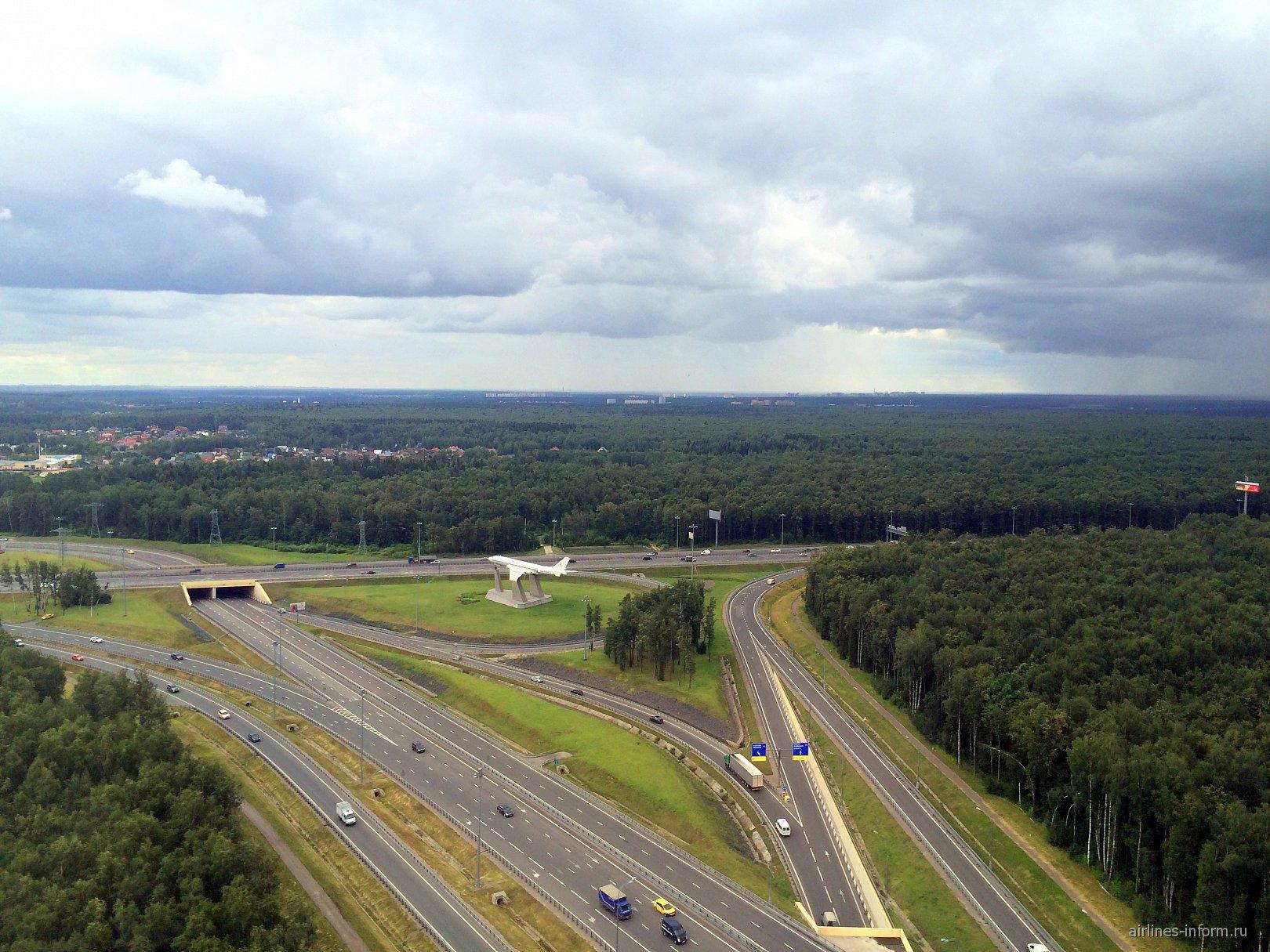 Съезд с Киевского шоссе на аэропорт Москва Внуково