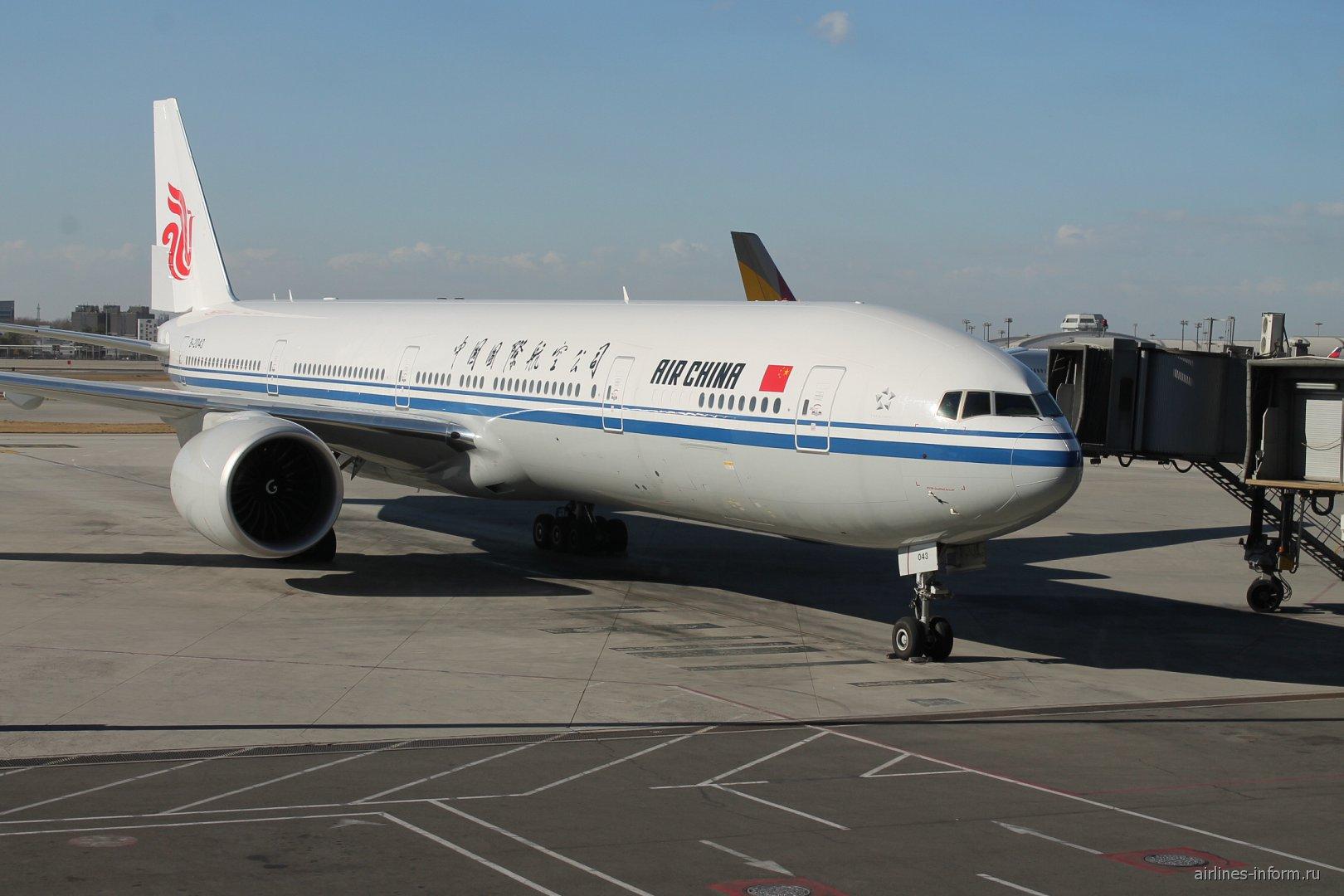 Боинг-777-300 авиакомпании Air China в аэропорту Пекина