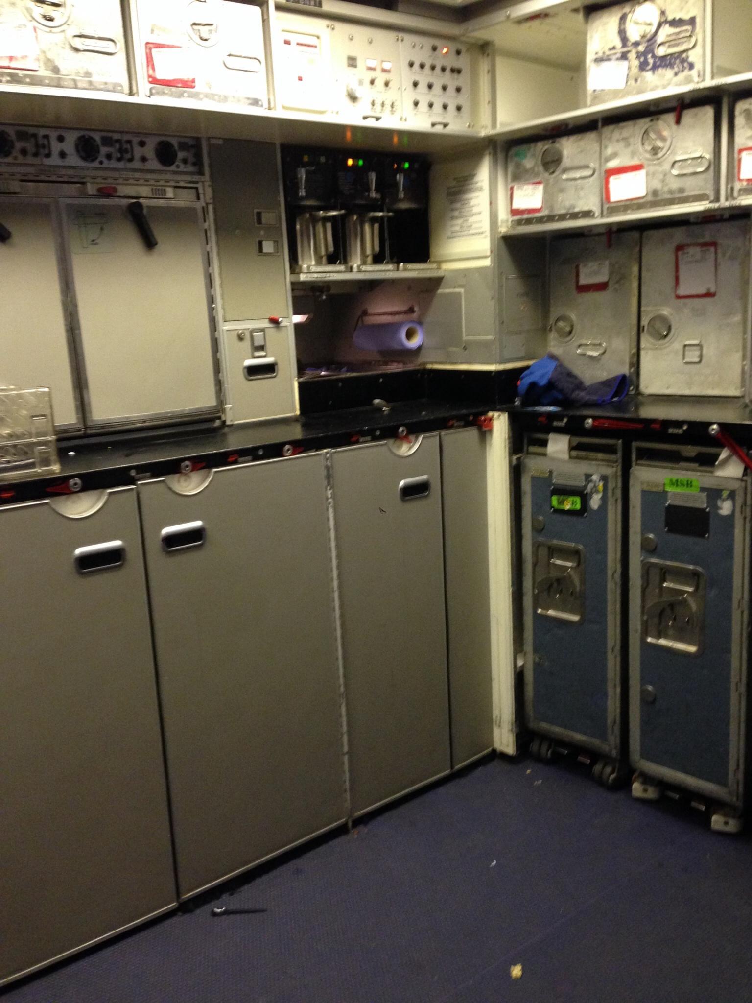 Салон самолета Боинг-767-300 Британских авиалиний