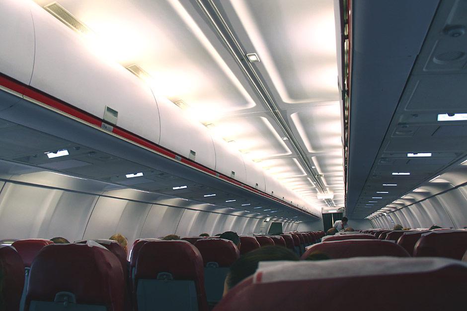 Салон самолета Ту-204-100 авиакомпании Red Wings
