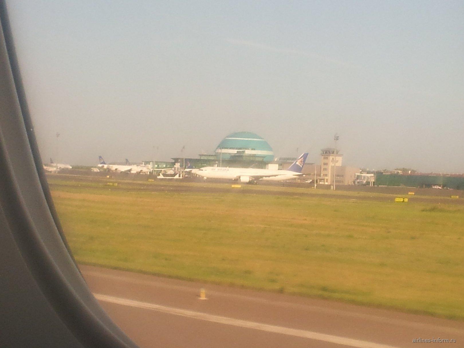 Вид на аэропорт Астана