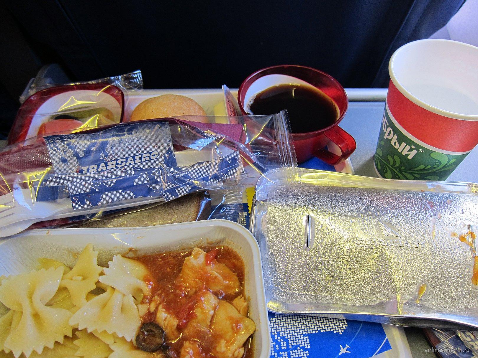 Питание на рейсе Трансаэро Берлин-Москва