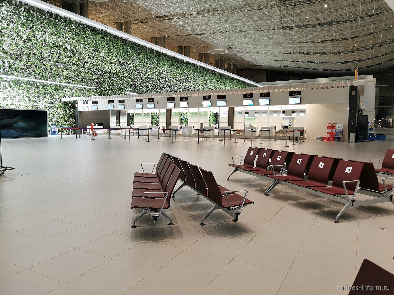 Зона регистрации в аэропорту Симферополь