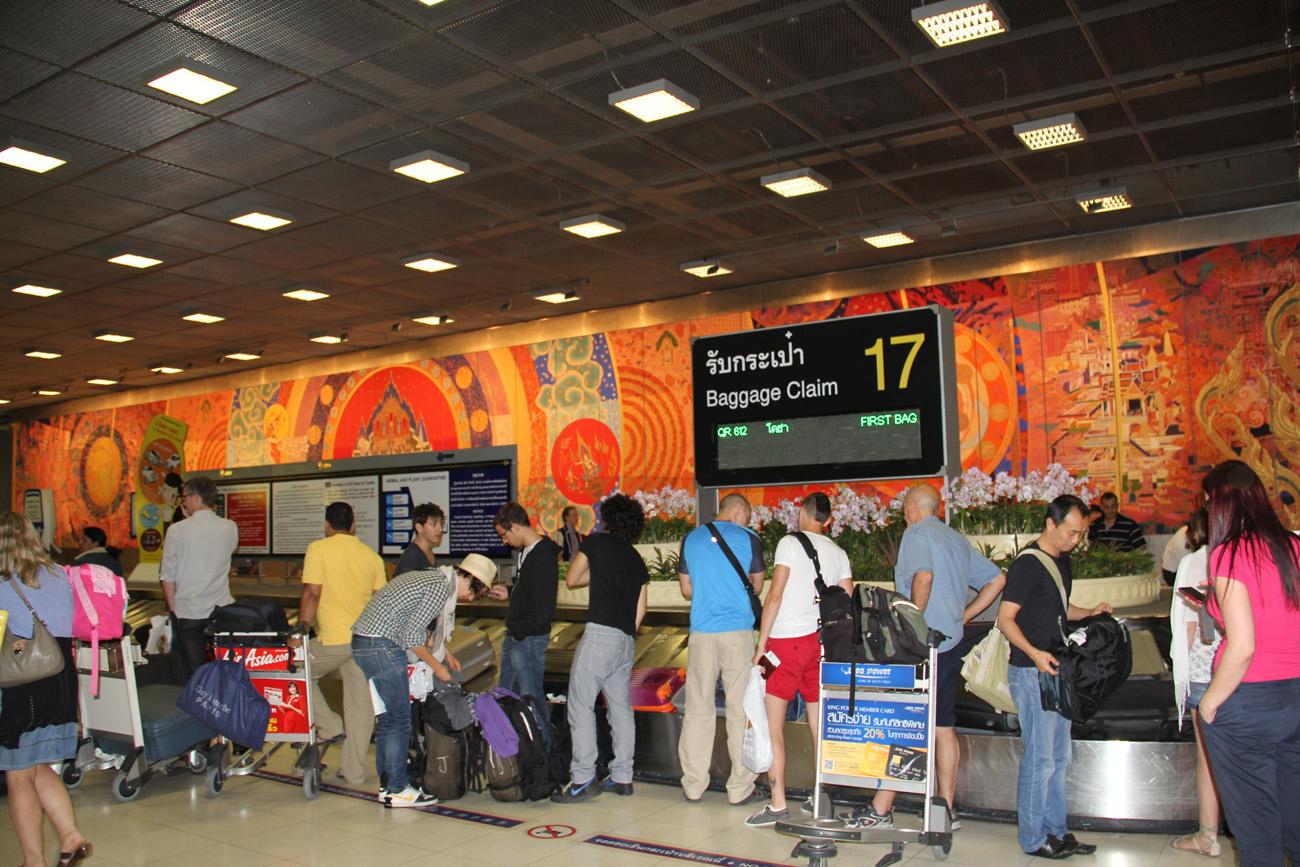 Лента выдачи багажа в аэропорту Бангкок Савурнабхуми