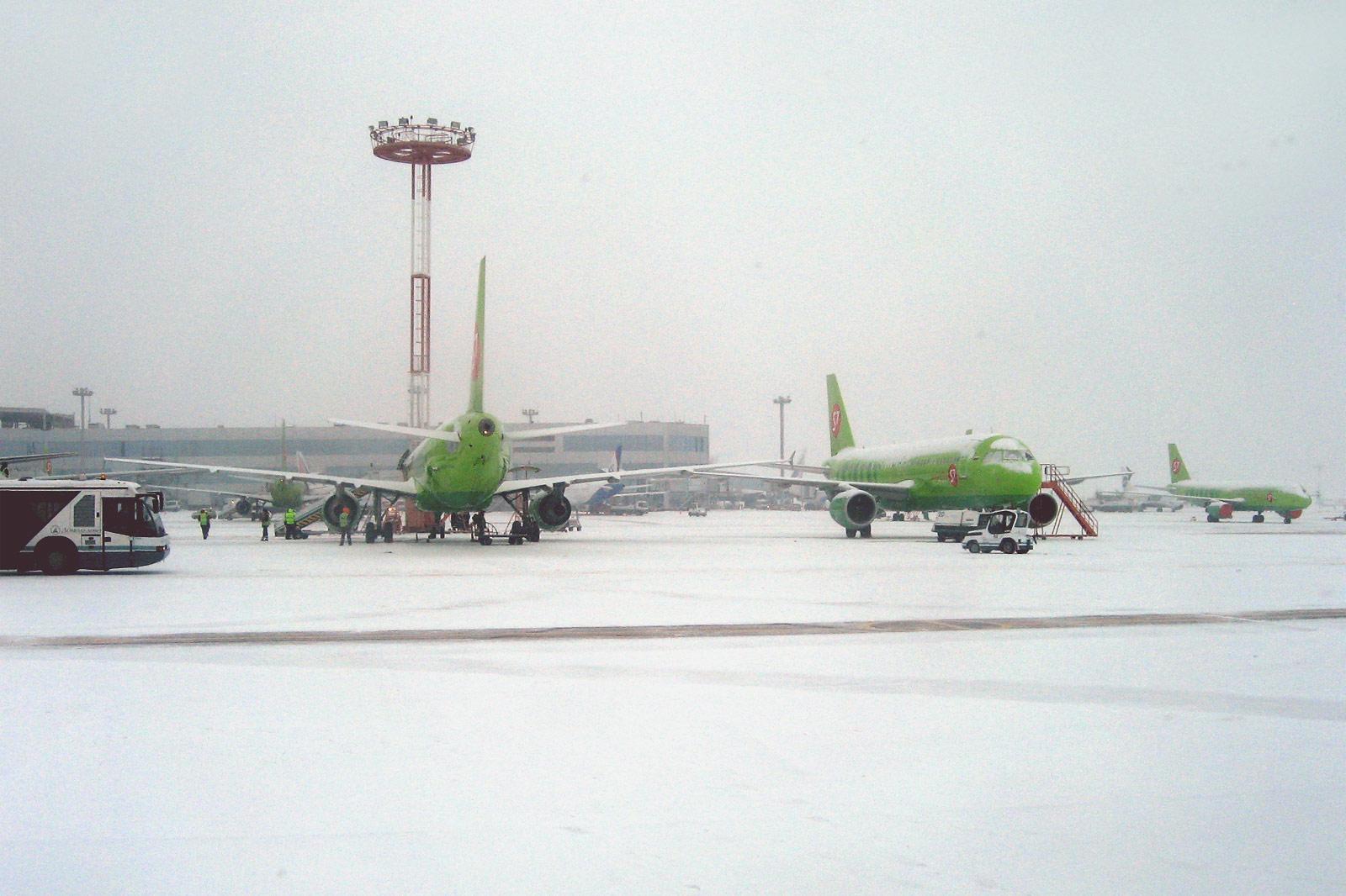 Самолеты авиакомпании S7 Airlines в аэропорту Домодедово