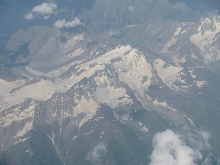 Flying over Caucasus