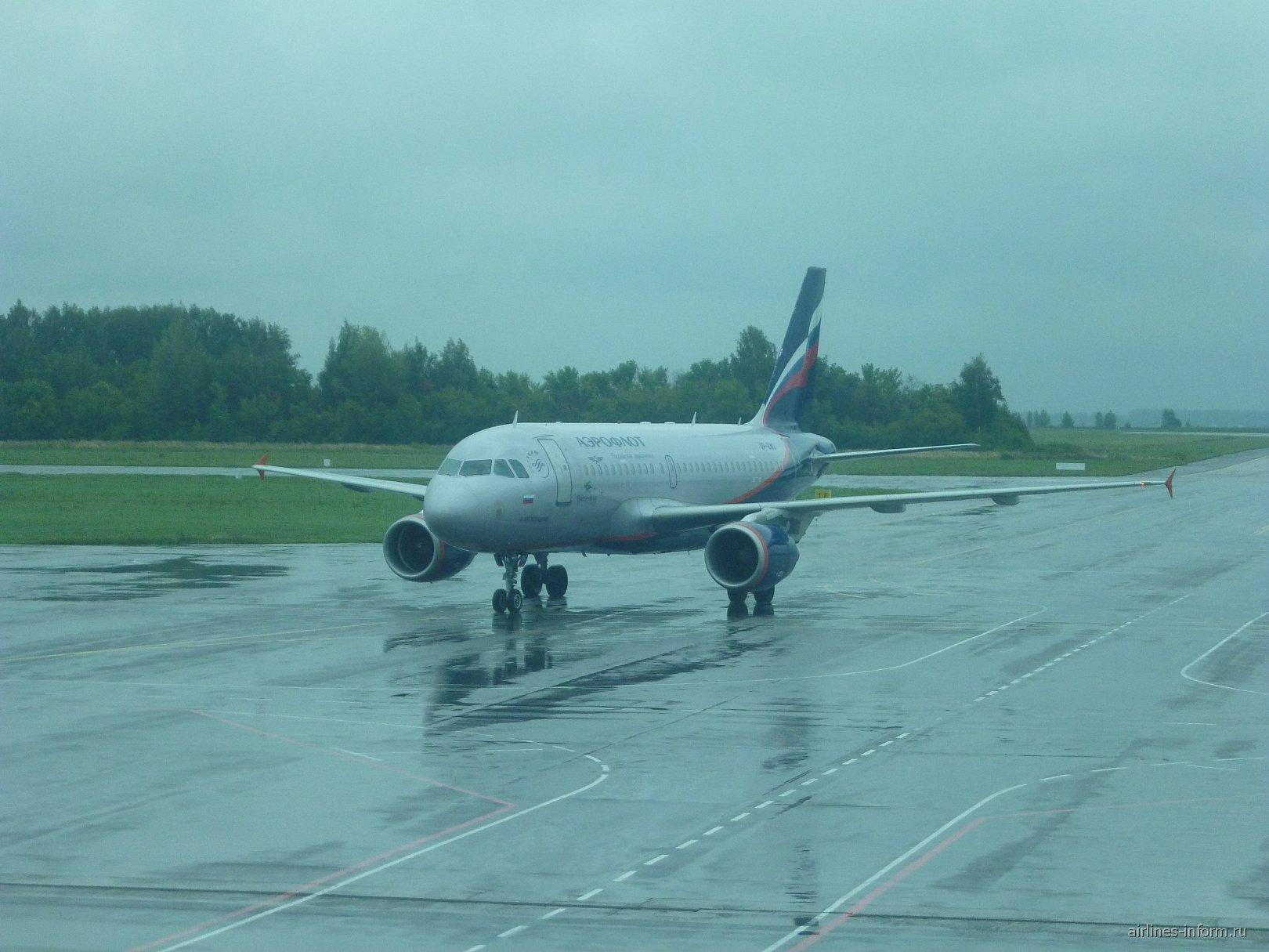 Эрбас А-319 Аэрофлота в аэропорту Уфа