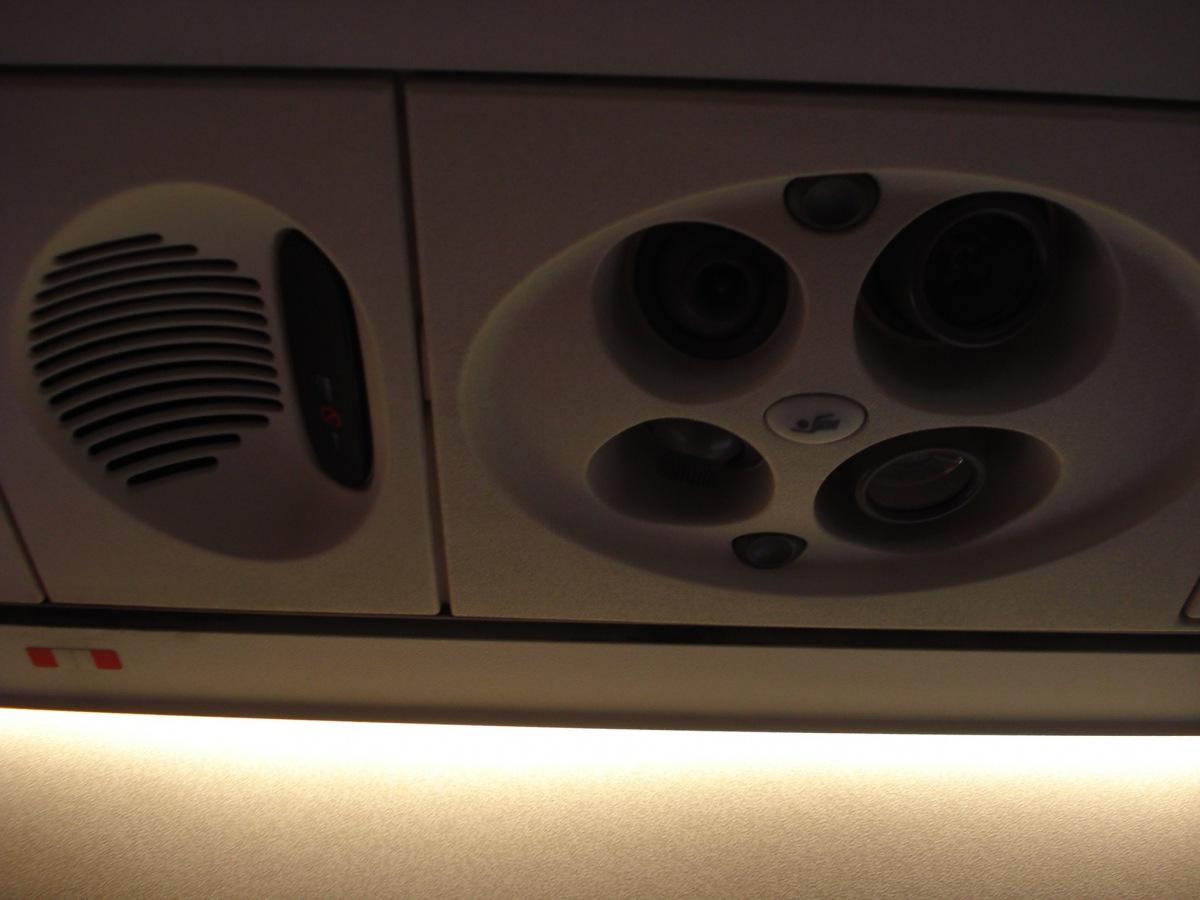 Passenger cabin of an Embraer 190 of Finnair