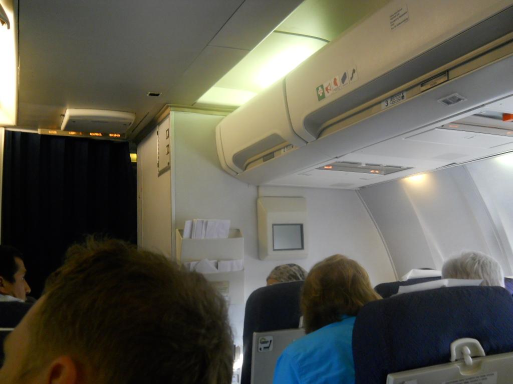 В салоне Боинга-757 авиакомпании ЮТэйр