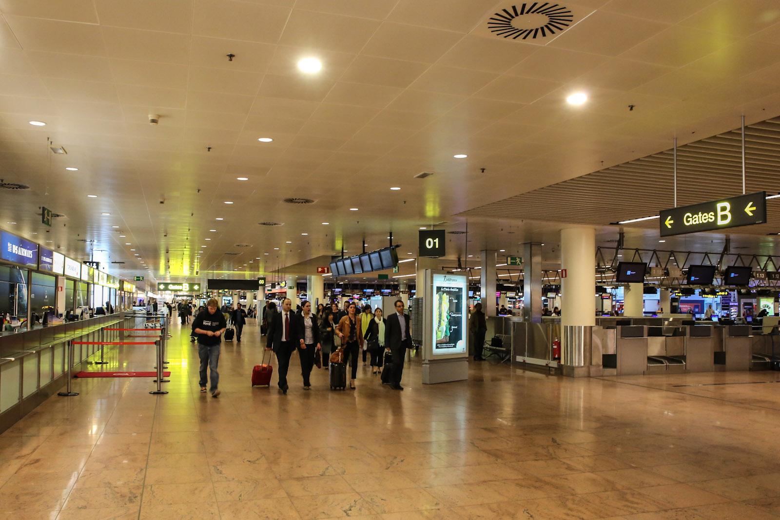 Зона регистрации в аэропорту Брюссель