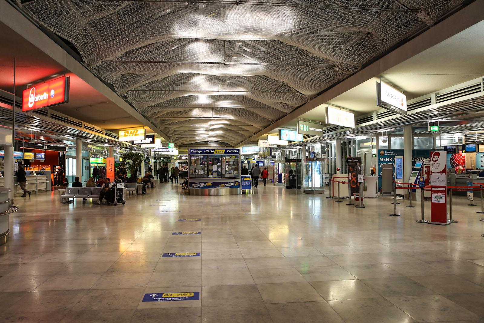 В аэровокзале аэропорта Нюрнберг