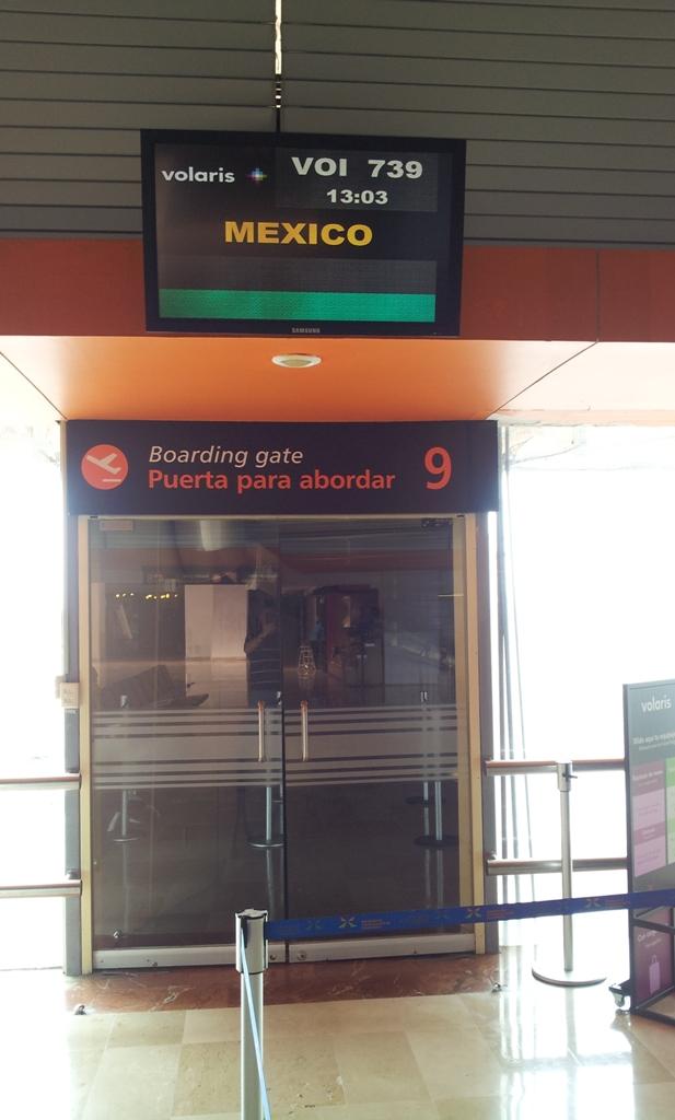 Посадка на рейс Гвадалахара-Мехико