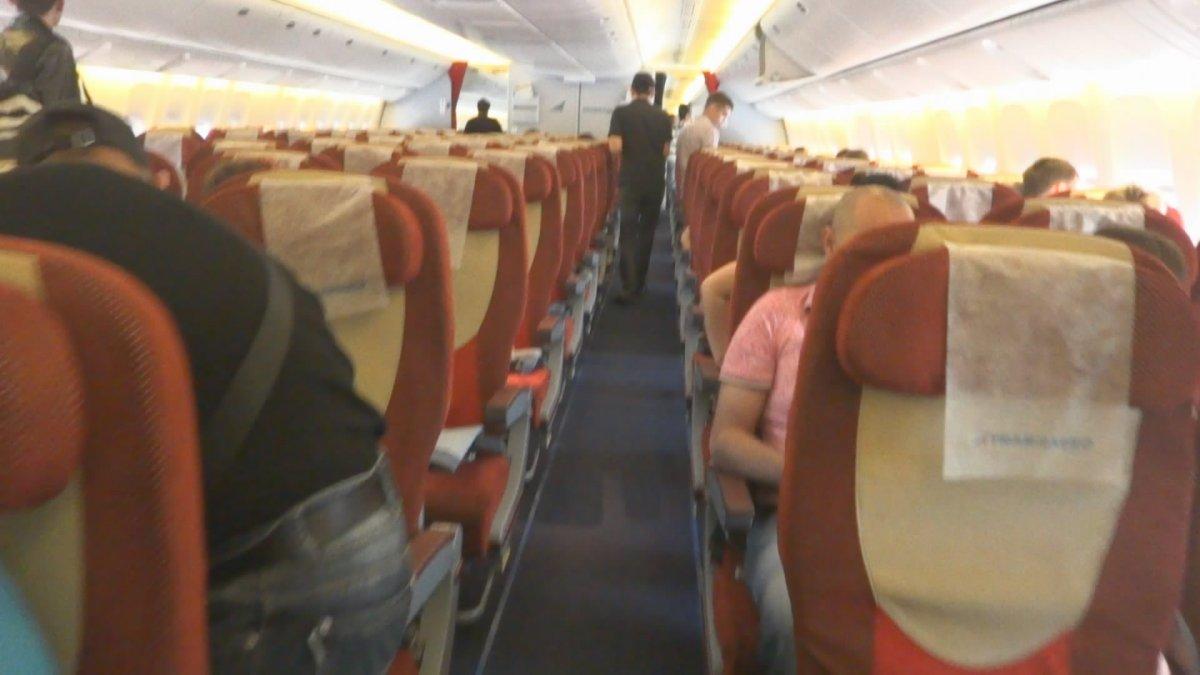 Салон самолета Боинг-777-300 авиакомпании Трансаэро