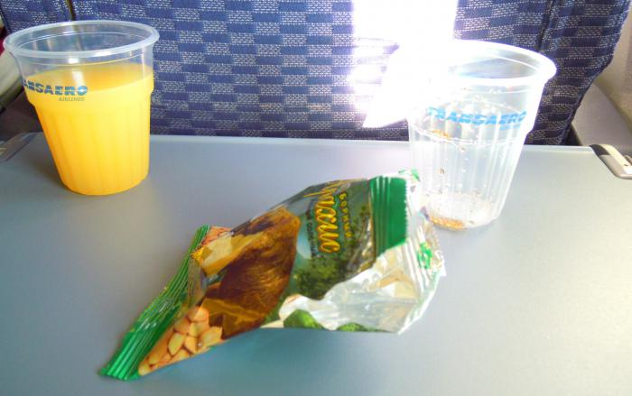 Питание на рейсе Трансаэро Магнитогорск-Москва