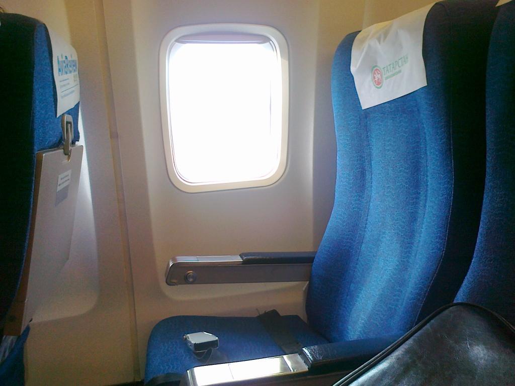 Салон самолета Боинг-737-500 авиакомпании Татарстан