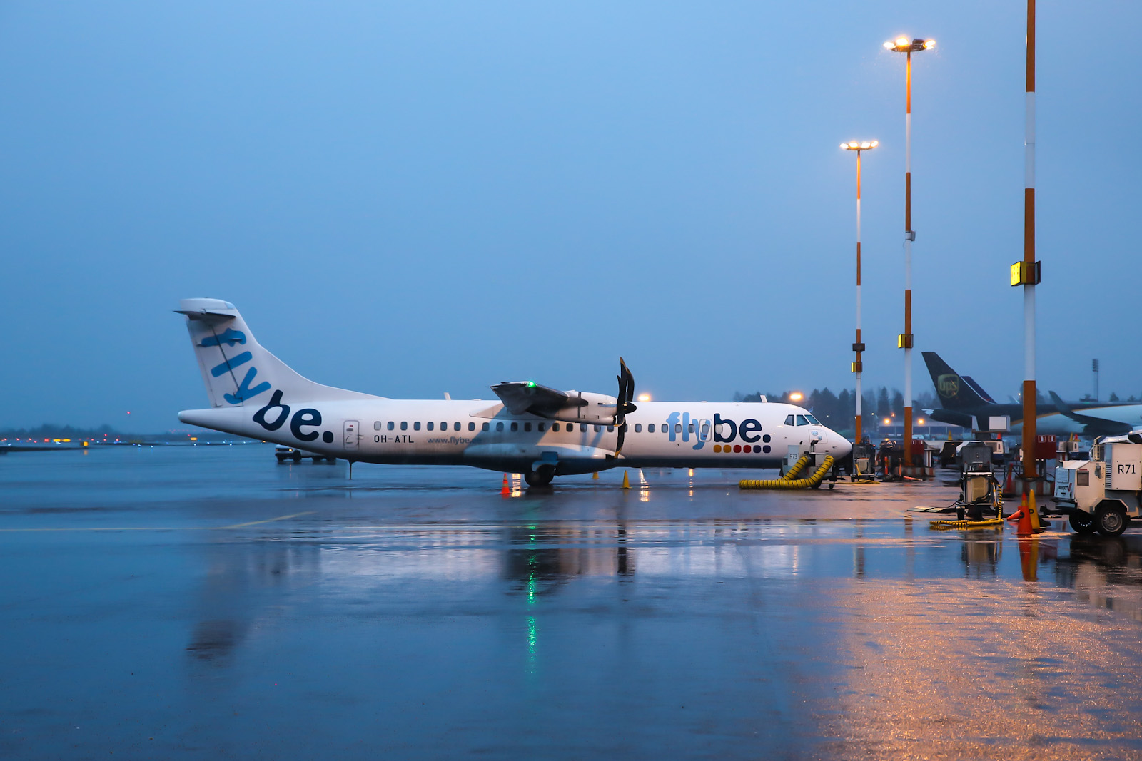 ATR 72 авиакомпании Flybe Nordic в аэропорту Хельсинки