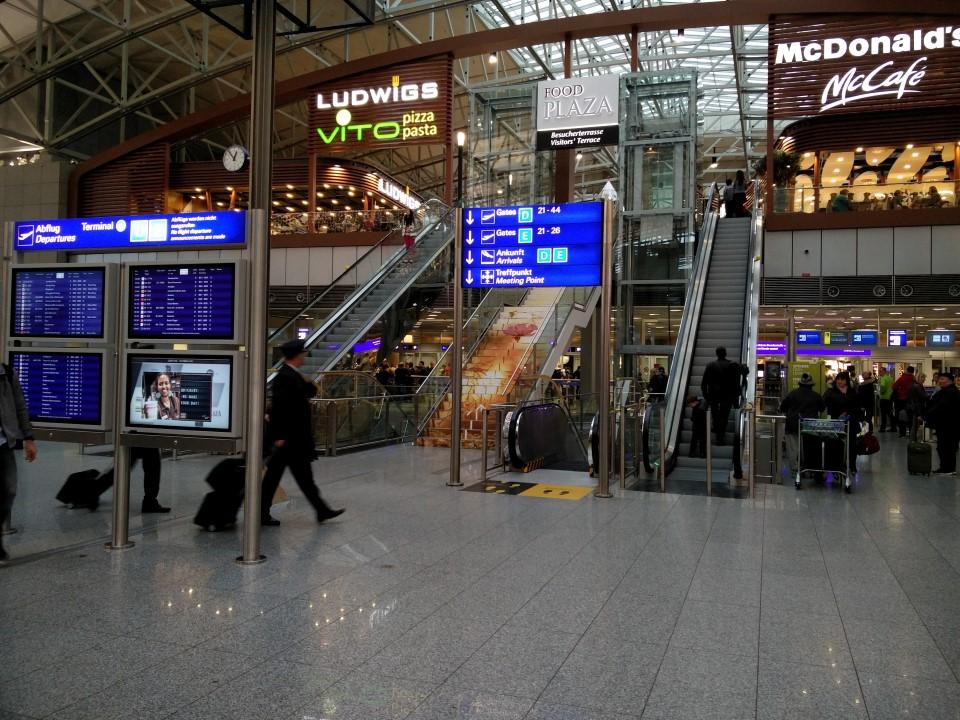 В терминале 2 аэропорта Франкфурт