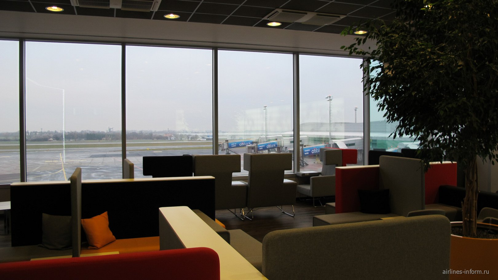 Бизнес-зал в терминале 1 аэропорта Прага Вацлав Гавел