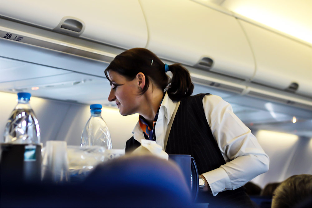 Flight attendant of KLM Royal Dutch Airlines