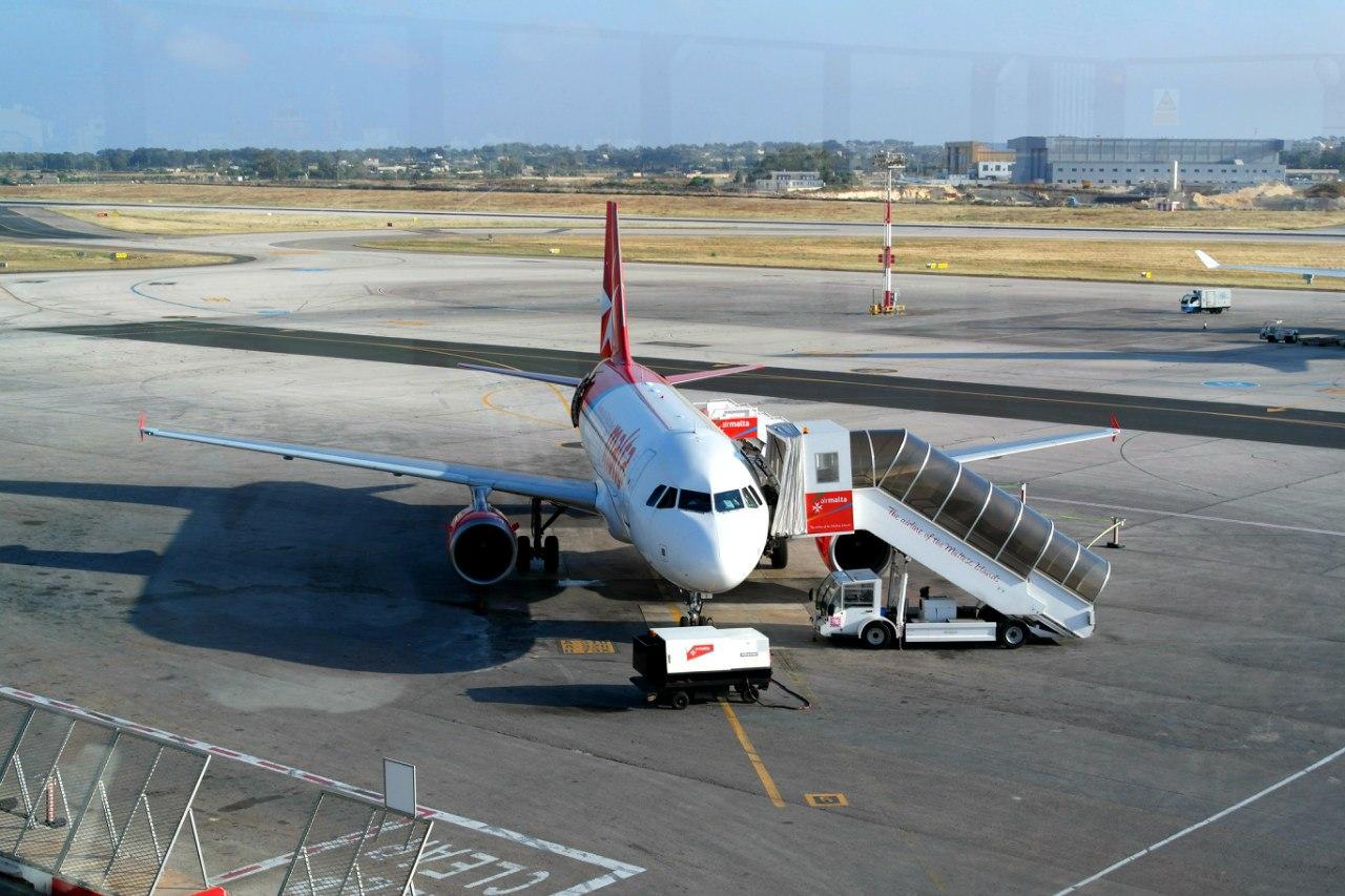 Airbus A319 авиакомпании Air Malta в аэропорту Мальта