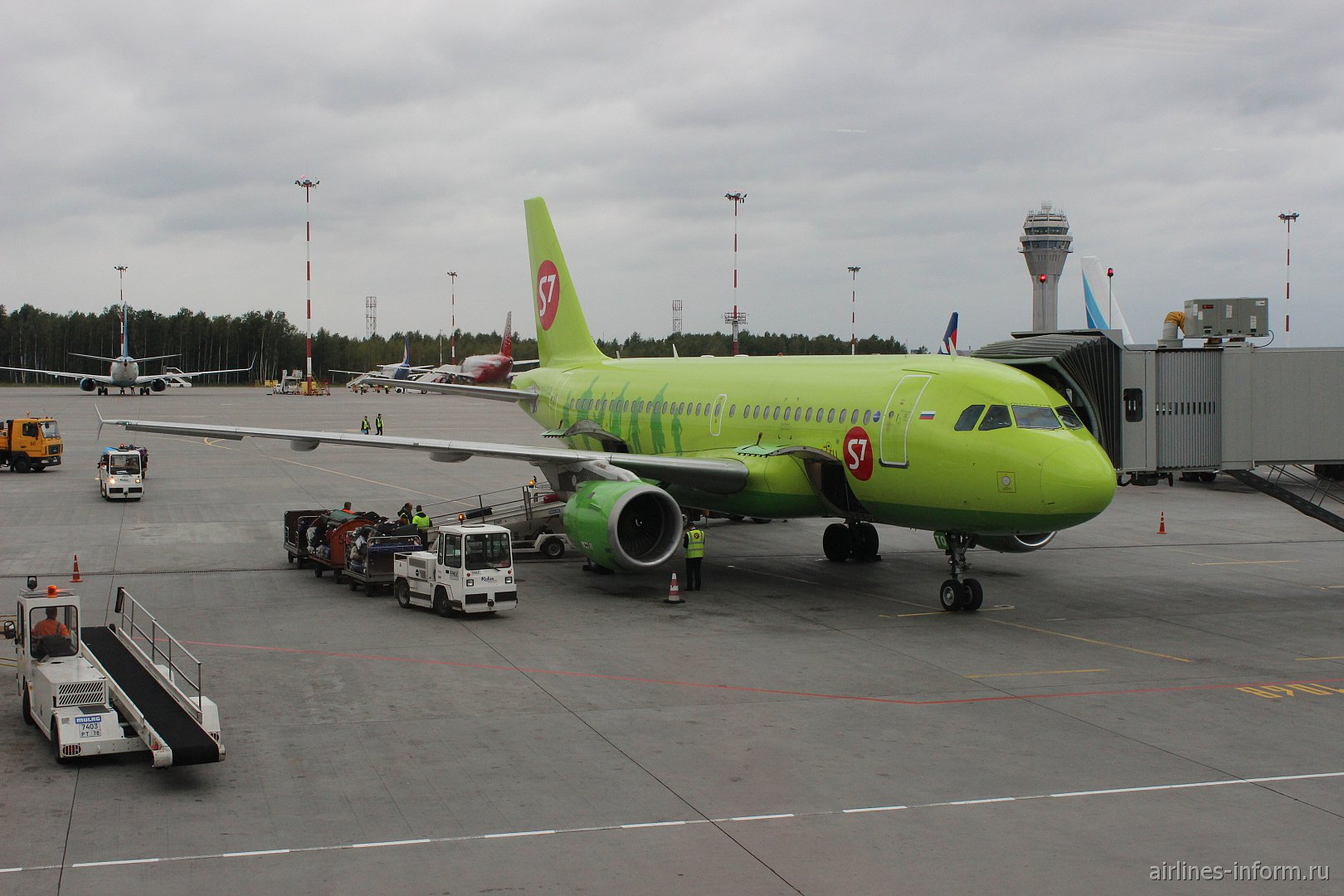 Летний отпуск. Часть 7 - Санкт-Петербург (Пулково 1 - LED) - Москва (Домодедово - DME) с S7 Airlines на А-319