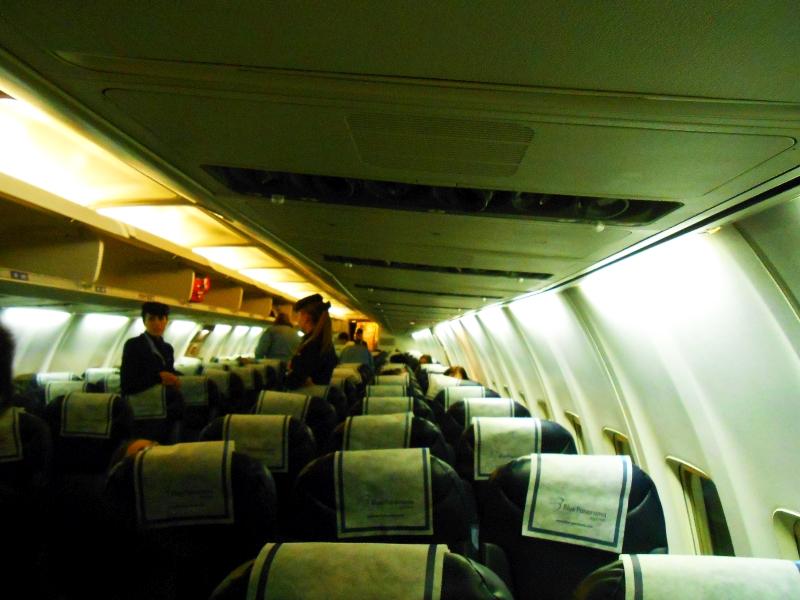 Салон самолета Боинг-737-300 авиакомпании Blu-Express