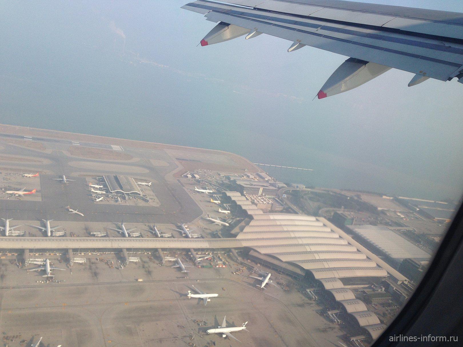 Вид на аэропорт Гонконг