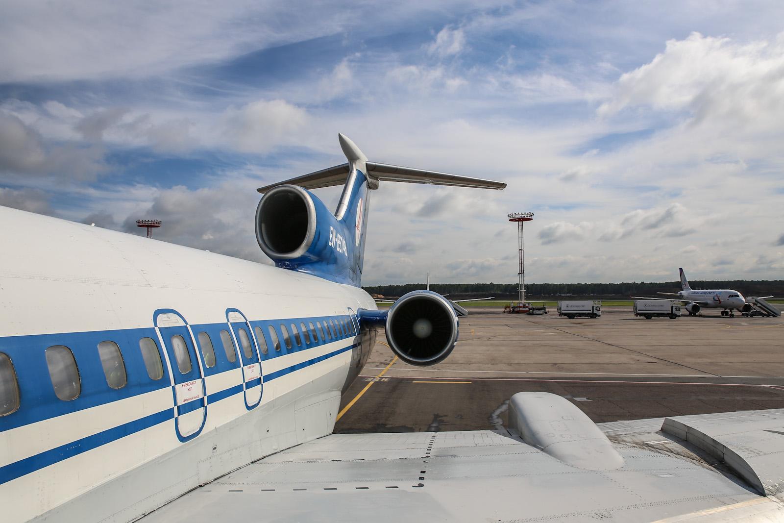 Самолет Ту-154М авиакомпании Белавиа