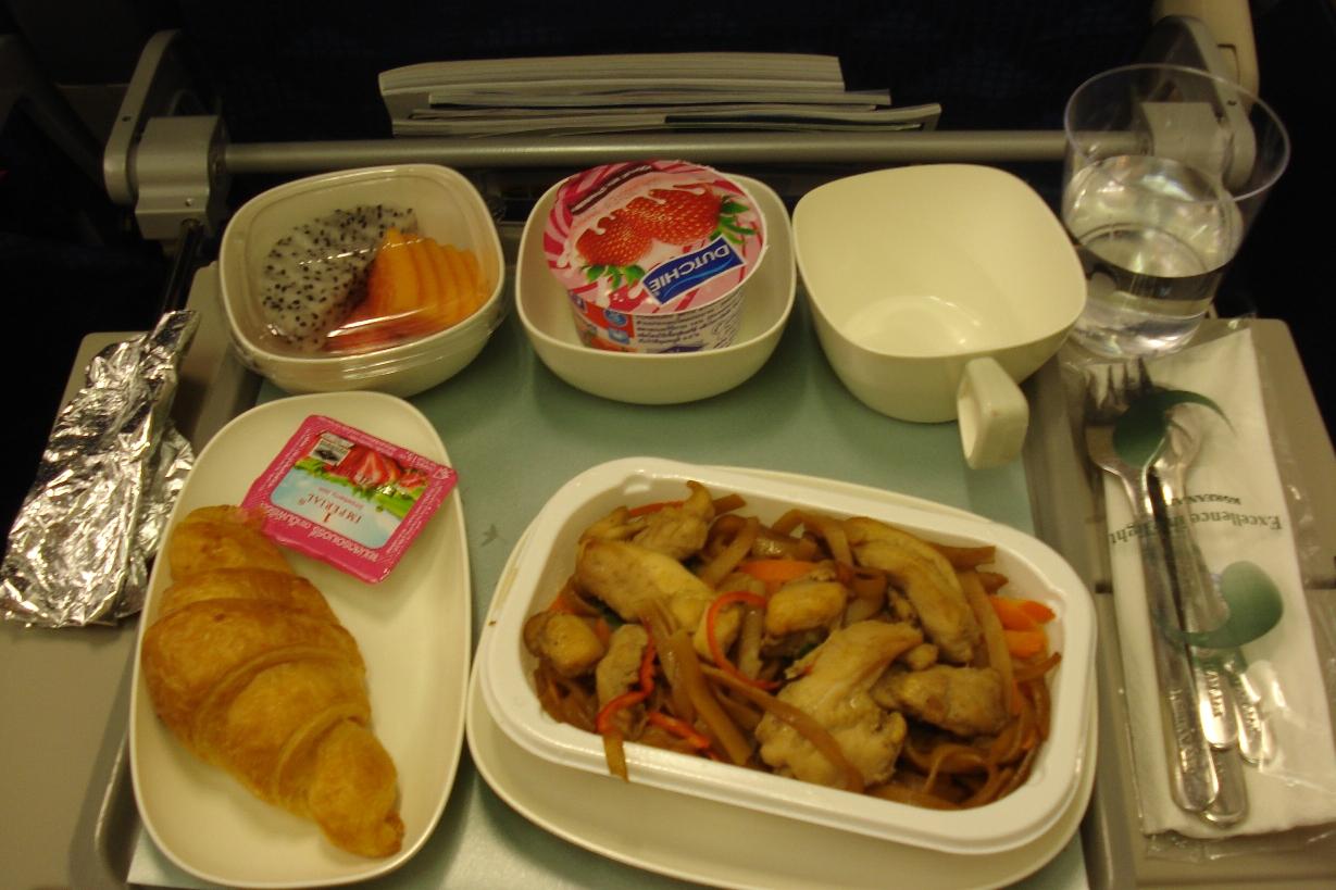 Питание на рейсе Пхукет-Сеул авиакомпании Korean Air