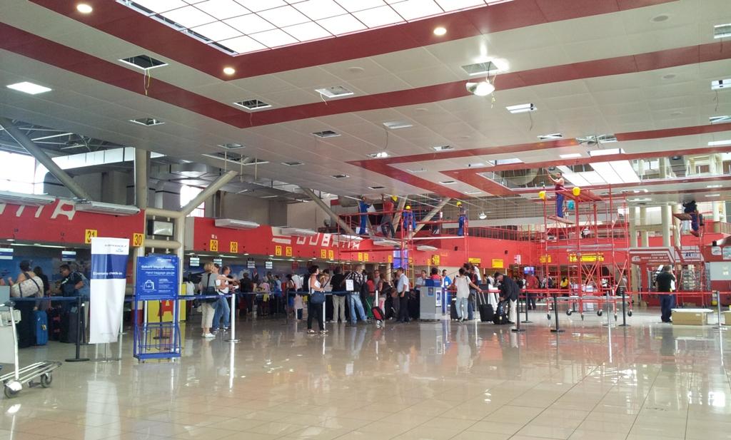 Зал регистрации в аэропорту Гавана Хосе Марти