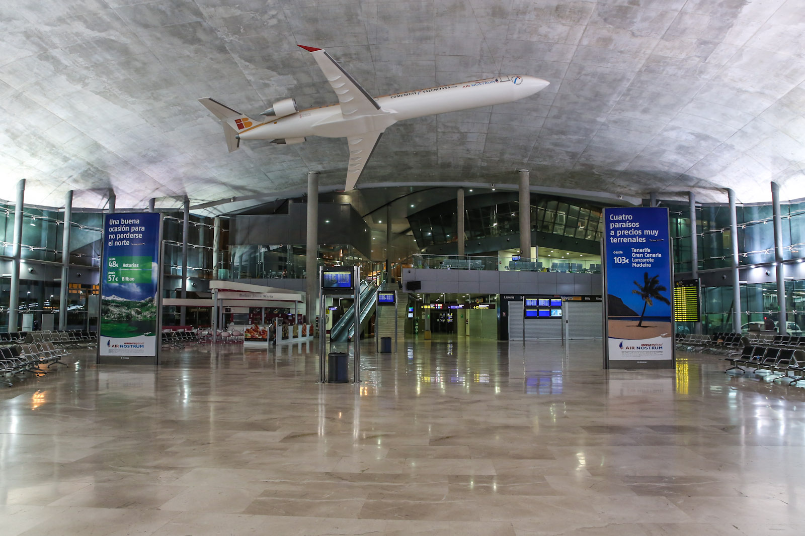 В чистой зоне аэропорта Валенсия