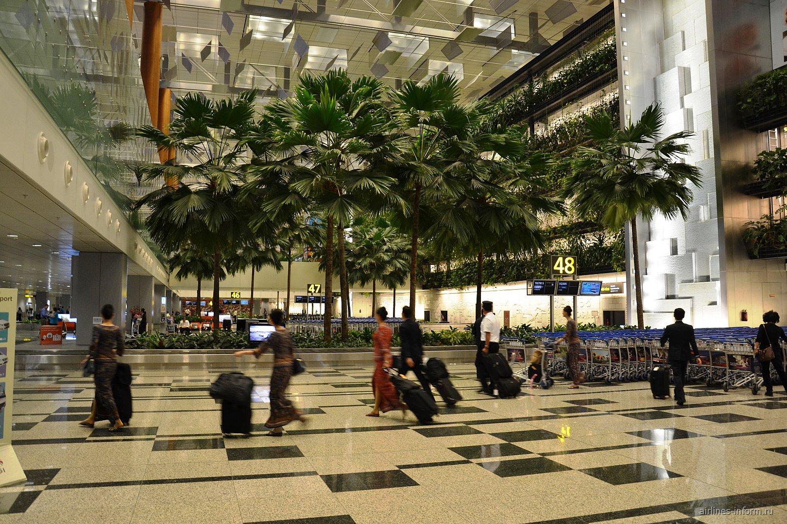 Зал получения багажа в терминале 3 аэропорта Сингапур Чанги