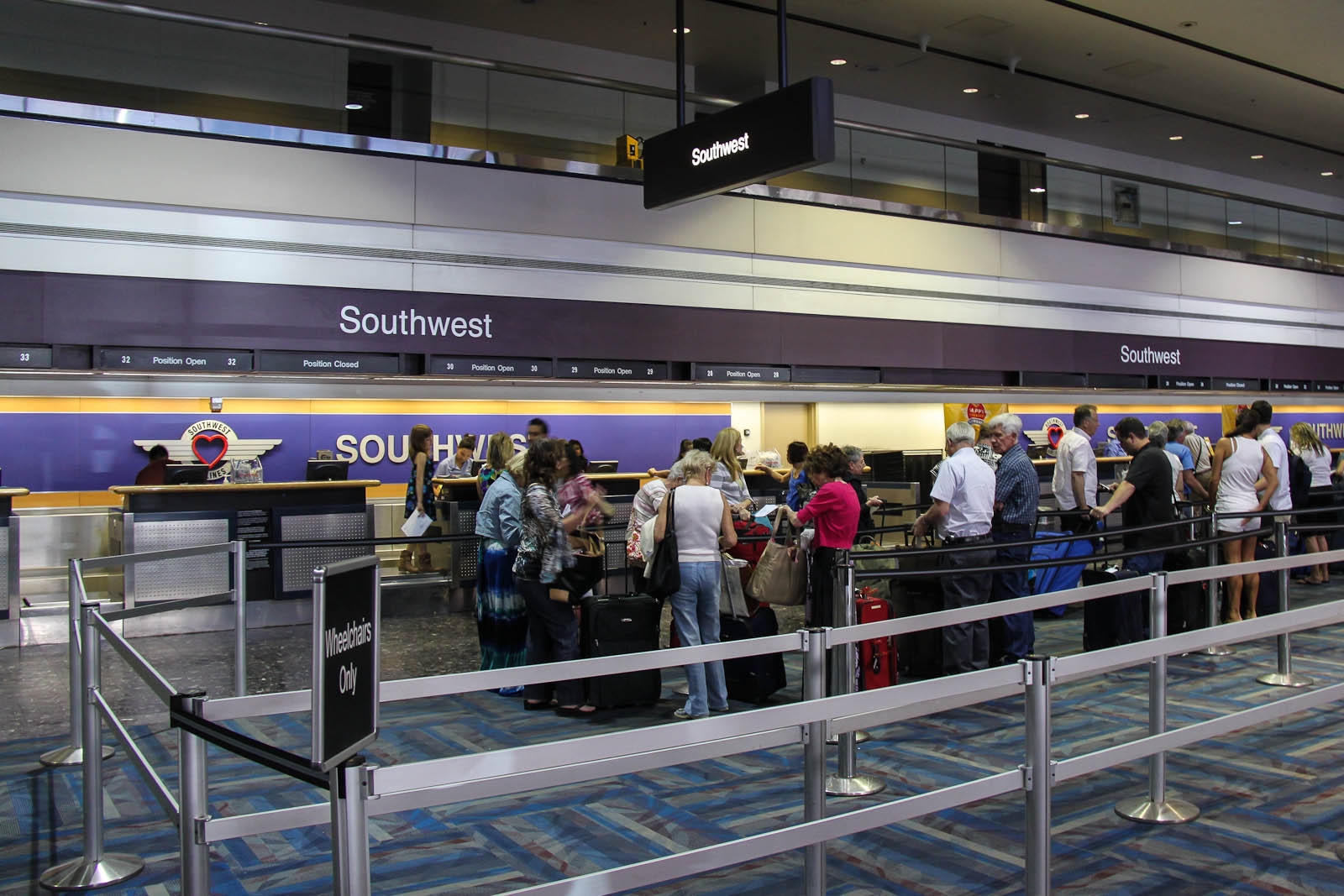 Southwest check-in desks at Las Vegas airport