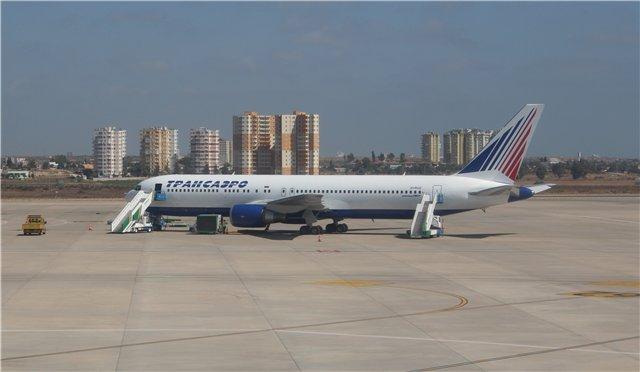Боинг-767-300 авиакомпании Трансаэро в аэропорту Анталья