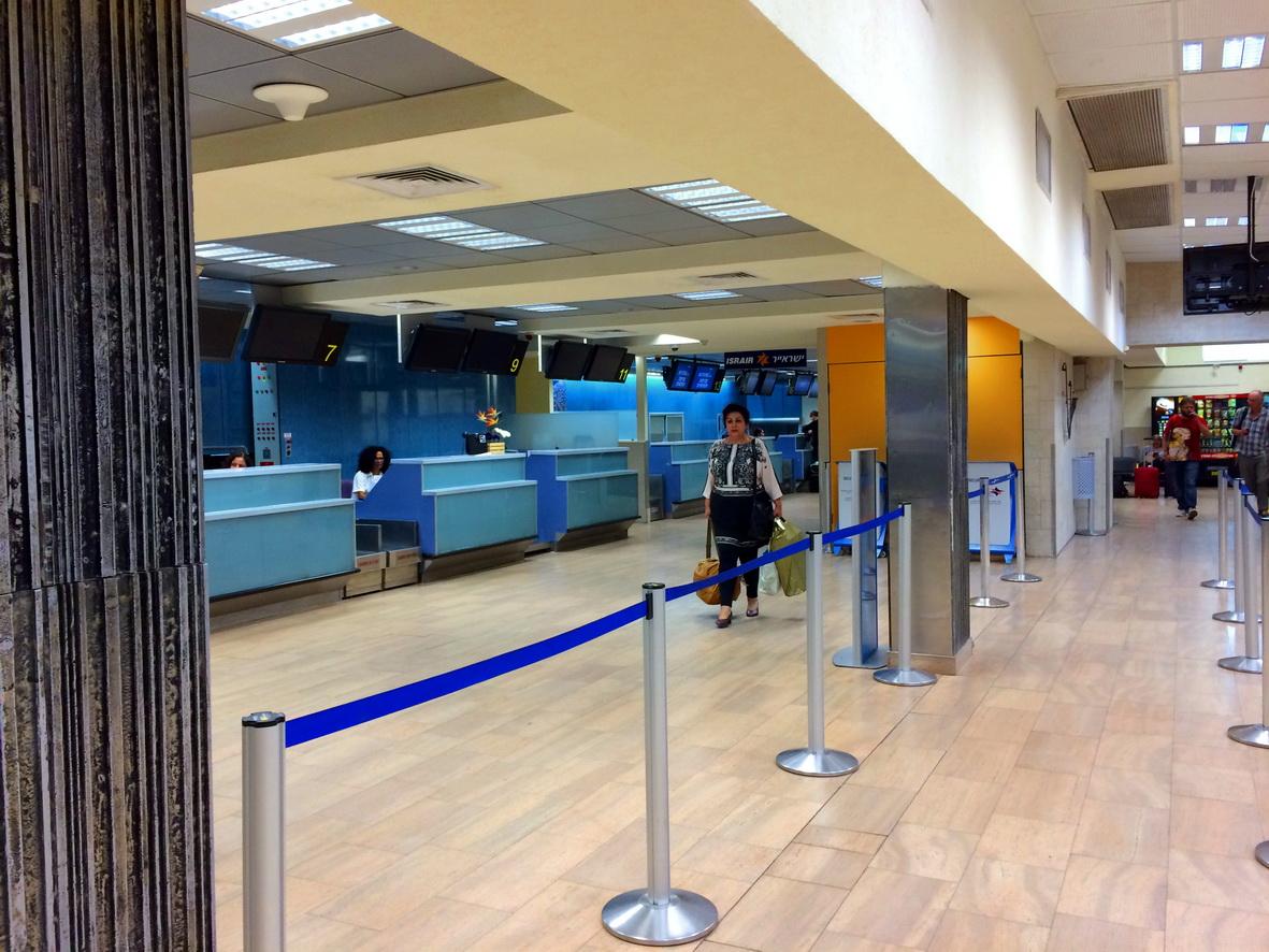 Стойки регистрации в аэропорту Эйлат