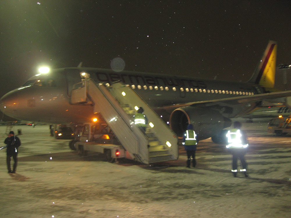 Airbus A319 of Germanwings arrived at Moscow Vnukovo Airport