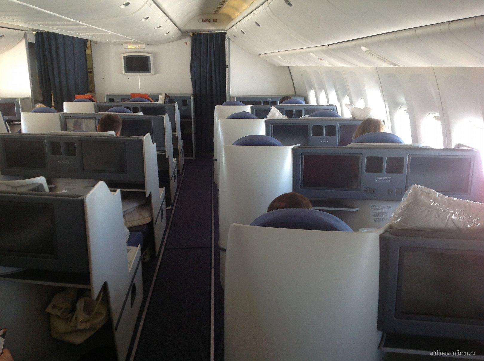 Бизнес-класс в самолете Боинг-777-300 Аэрофлота