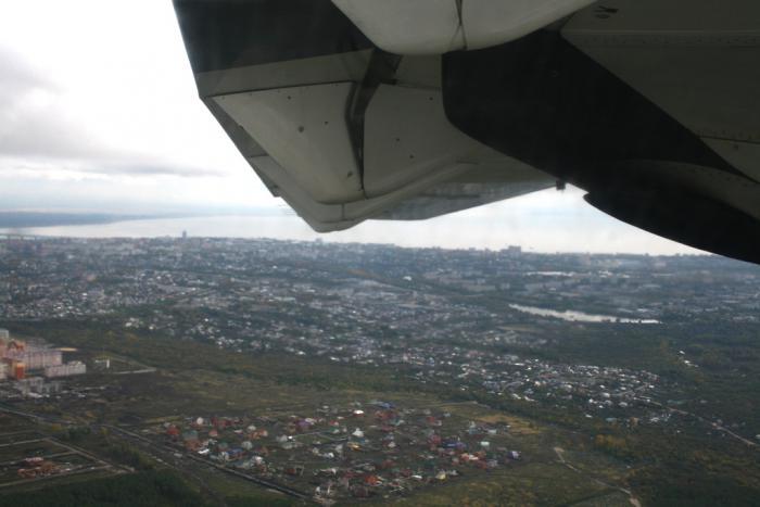 Flight in ATR 42